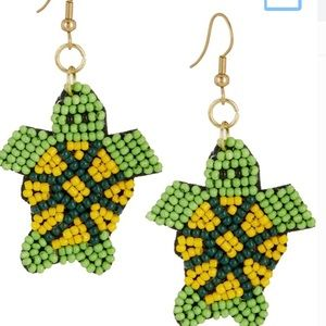 NWT 🐢 Turtle bead earrings Bay Studio adorable